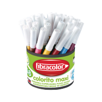 Debeli flomastri Fibracolor Colorito maxi, lonček, 48 kosov