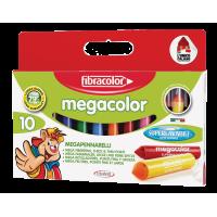 Debeli flomastri megacolor Fibracolor, komplet 10