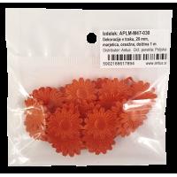 Dekoracije v traku, 20 mm, marjetica, oranžne, dolžina 1 m