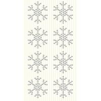Dekorativni dodatki, snežinke, srebrni