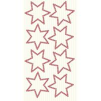 Dekorativni dodatki, zvezdice, rdeči