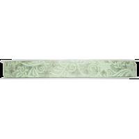 Dekorativni trak, 10 mm, ornament, zelen, 1 meter