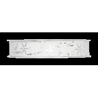 Dekorativni trak, 15 mm, ledeni kristali, bel, 1m