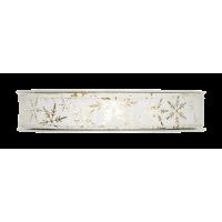 Dekorativni trak, 15 mm, ledeni kristali, zlat, 1m