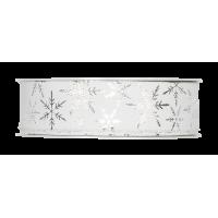 Dekorativni trak, 25 mm, ledeni kristali, bel, 1m