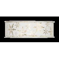Dekorativni trak, 25 mm, ledeni kristali, zlat, 1m