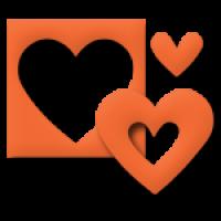 Dvojna delna štanca EK Success, ca. 25 mm, srce