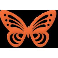 Dvojna štanca, ca. 35 - 45 mm, metulj