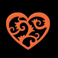 Dvojna štanca, ca. 35 - 45 mm, srce