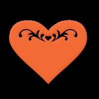 Dvojna štanca, ca. 35 - 45 mm, tattoo srce