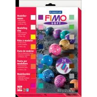 FIMO soft, komplet 24 polov. blokov