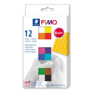 FIMO soft, osnovne barve, 12 polovičnih blokov