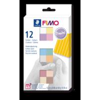 FIMO soft, pastelne barve, 12 polovičnih blokov