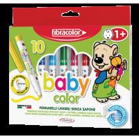 Flomastri Fibracolor - Baby color, komplet 10