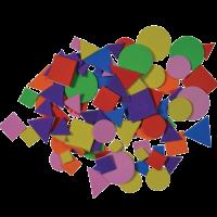 Geometrijski liki izrezani iz moosgumme, samolepilni, približno 110 kosov