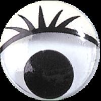 Gibljivo oko s trepalnicami, okroglo, Ø15 mm, 1 kos