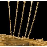 Igle za perle 30 x 1.5 x 0.75 mm, zlate, 20 igel
