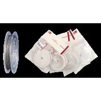 Jeklena vrvica za nakit, Ø0,45 mm, dolžina 20 m, srebrna, plastificirana