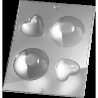 Kalup za milo (3D - krog / srce)
