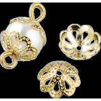 Kapica za perle, Ø8 mm, zlata, 30 kosov