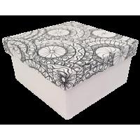 Kartonska šatulja - pobarvanka, kvadratna, 10 x 10 x 5 cm