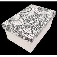 Kartonska šatulja - pobarvanka, pravokotna, 16 x 10.5 x 7 cm