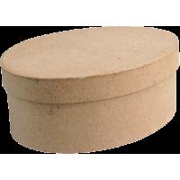 Kartonska šatulja, ovalna, 12 x 9 x 5 cm