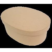 Kartonska šatulja, ovalna, 15.5 x 11 x 6 cm