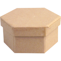 Kartonska šatulja, šestkotna, Ø9 x 4 cm