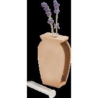 Kartonska vaza s stekleno epruveto, 6 x 9,5 x 2,5 cm