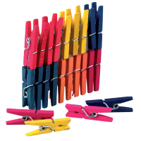 Kljukice za perilo, 25 mm, več barv, 25 kosov