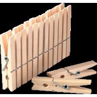 Kljukice za perilo, 72 x 10 mm, 10 kosov