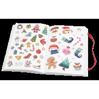 Knjiga nalepk, Božični motivi, 11.5 x 17 cm, 76 strani, približno 1700 nalepk