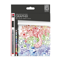 Komplet barvnih grafičnih pisal GRAPHIX, 12 pisal