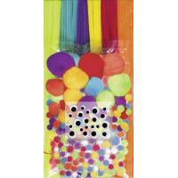 Komplet cofkov in kosmatih žic, osnovne barve, 300 kosov