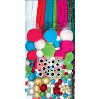 Komplet cofkov in kosmatih žic, pastelni odtenki, 300 kosov