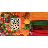 Komplet cofkov in kosmatih žic, rjavi odtenki, 300 kosov