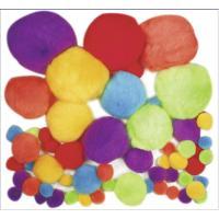 Komplet cofkov iz pliša, osnovne barve, približno 60 kosov