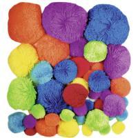 Komplet cofkov iz volne, osnovne barve, približno 45 kosov