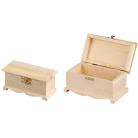 Komplet dveh lesenih skrinjic
