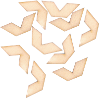 Komplet lesenih strešic, 80 x 5 mm, 10 kosov
