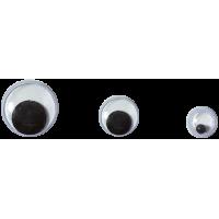 Komplet okroglih očes, 2 x Ø5, 4 x Ø7, 4 x Ø10 mm, 10 kosov