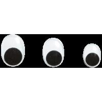 Komplet ovalnih očes, 4 x Ø7, 4 x Ø10, 2 x Ø12 mm, 10 kosov