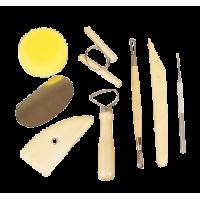 Komplet pripomočkov za oblikovanje gline, 8 delni