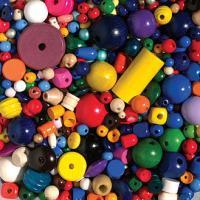 Komplet različnih lesenih perl, 100 g