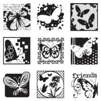 Komplet štampiljk 10 x 17,5 cm, metulji, 10 delni