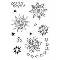 Komplet štampiljk, 74 x 105 mm, zvezdice, 11 delni