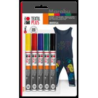 Komplet Textil Painter Plus, 3 mm, 5 flomastrov