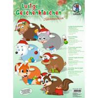Komplet za izdelavo zabavnih darilnih vrečk, 25 x 18 x 4.5 cm, Božič, 6 vrečk