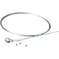 Komplet za ogrlico, 0,4 mm x 75 cm, srebrn